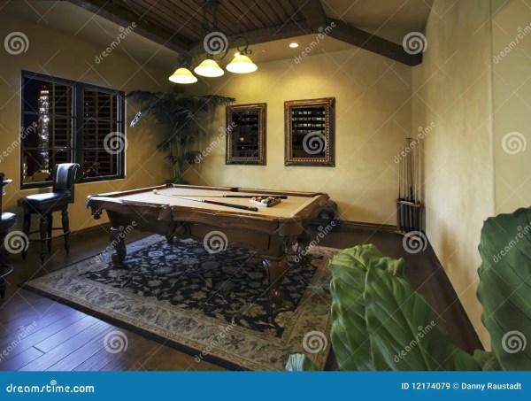 Billiards Game Room Dark Royalty Free Stock