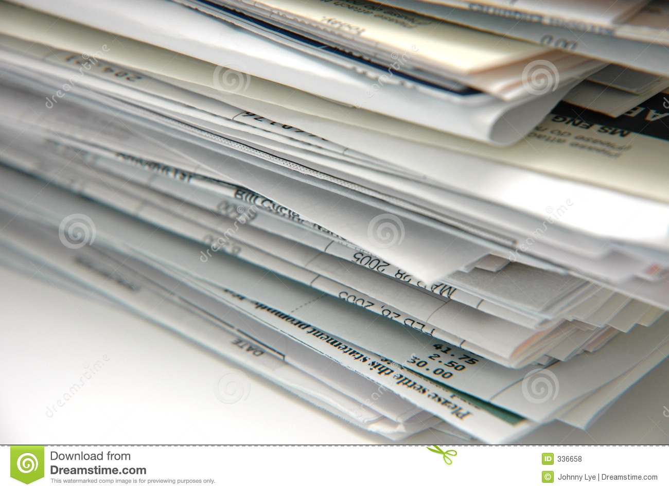 Bills And Invoices Royalty Free Stock Photos