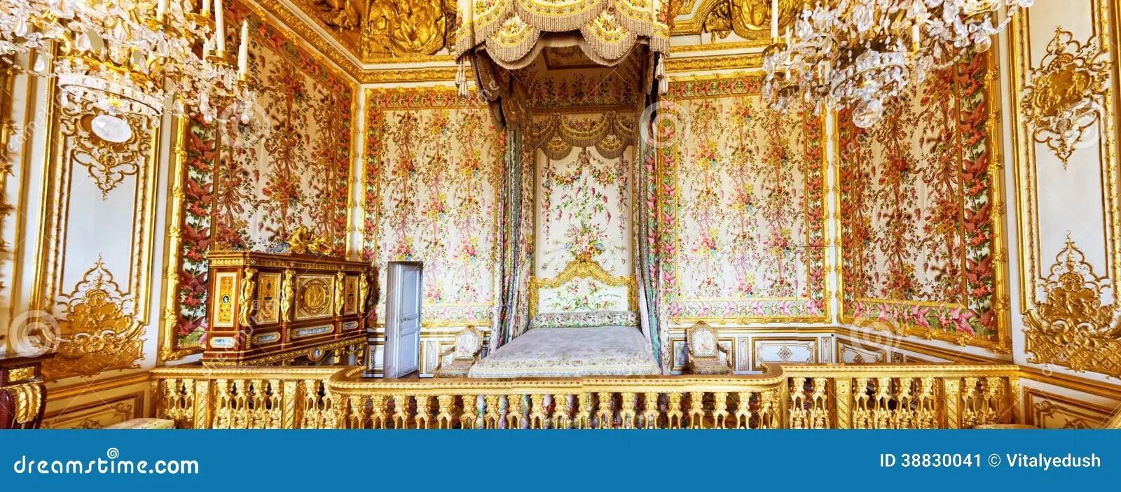 Binnenland Van De Slaapkamer Van De Koningin Redactionele