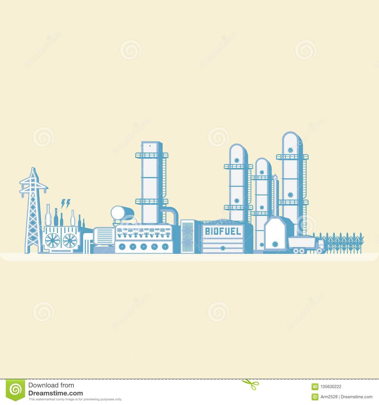 hight resolution of bio fuel energy bio fuel power plant with diesel generator generate the electric in simple graphic