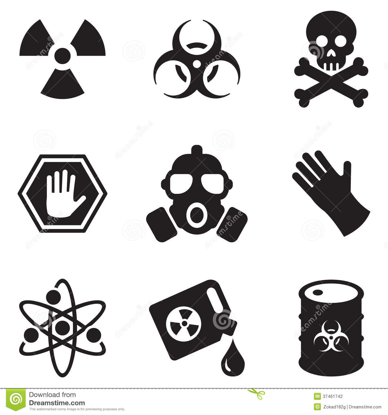 Biohazard Icons Stock Photography