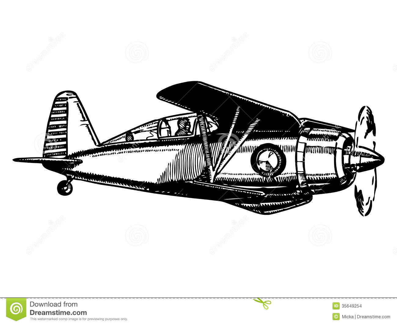 Biplane Aircraft In Flight Stock Images