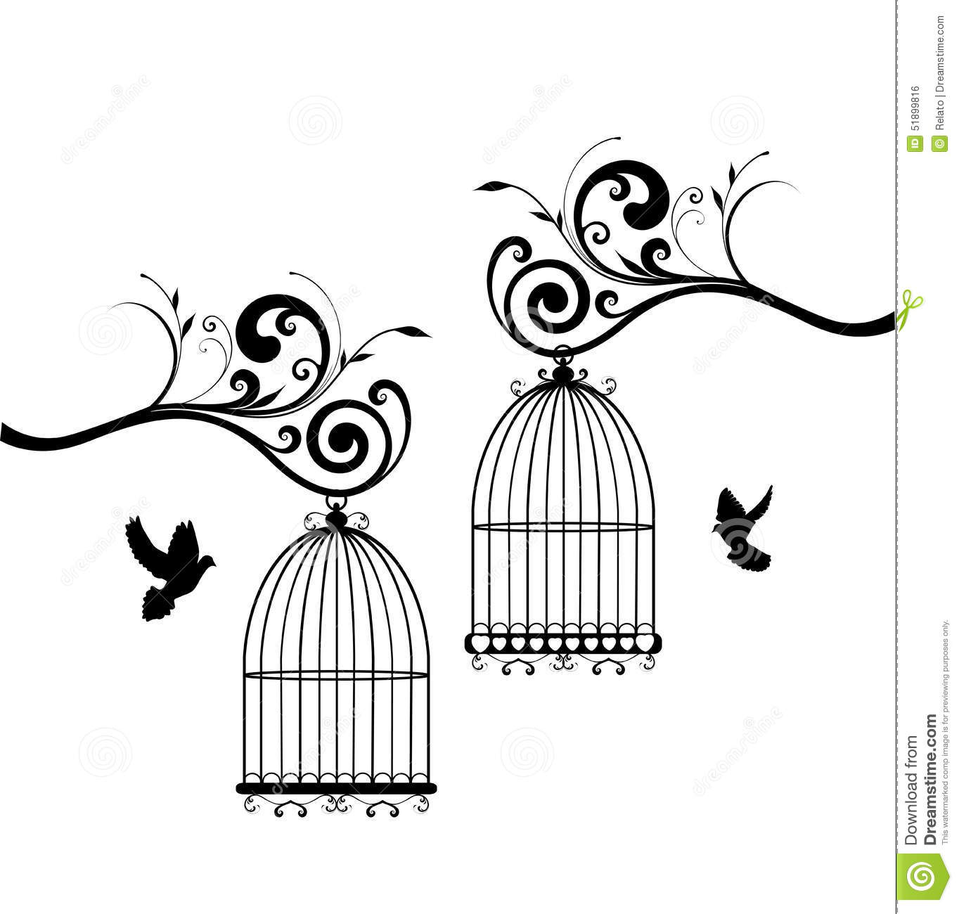 Bird Cages Stock Vector