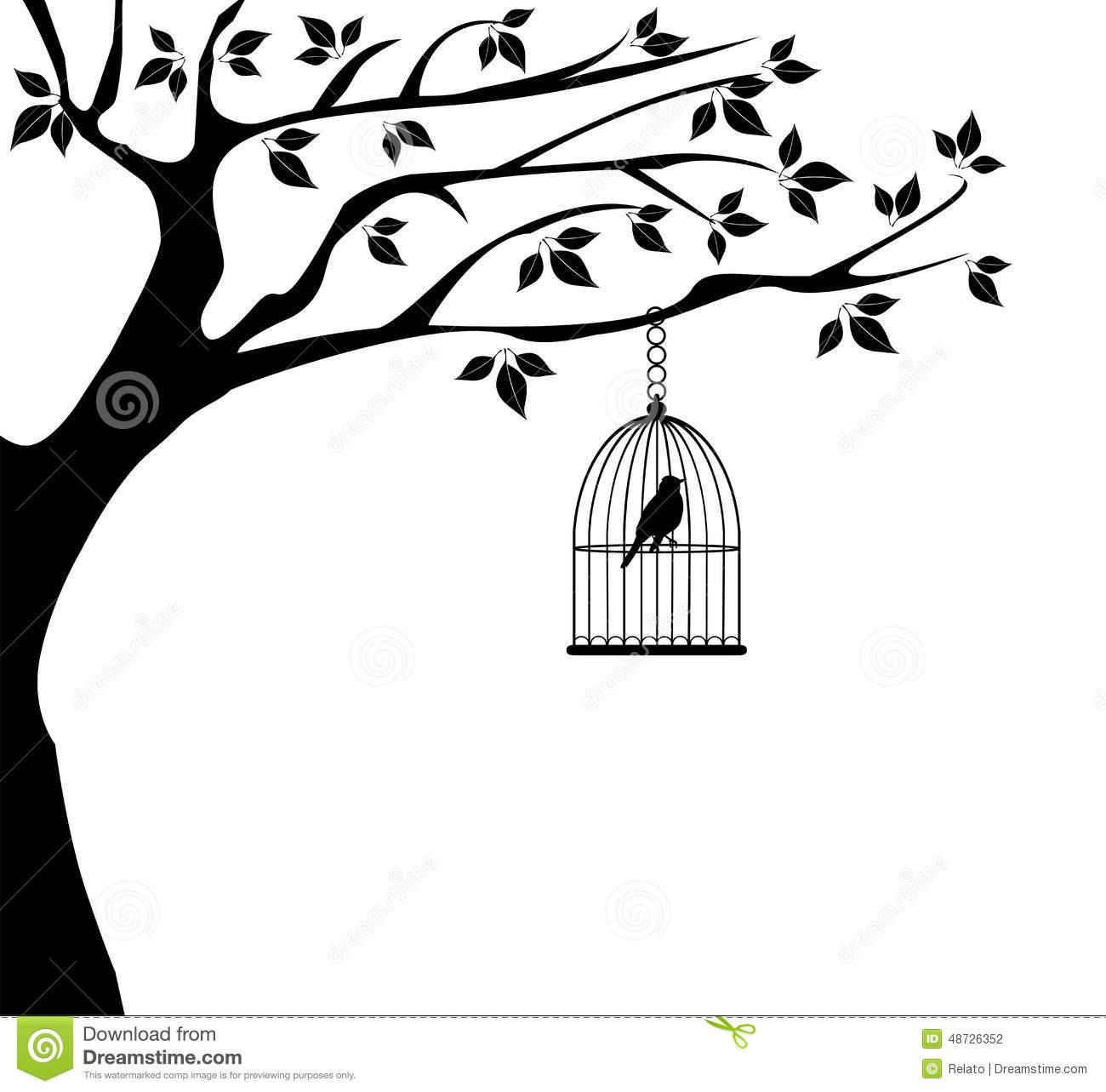 Bird Tree Stock Vector