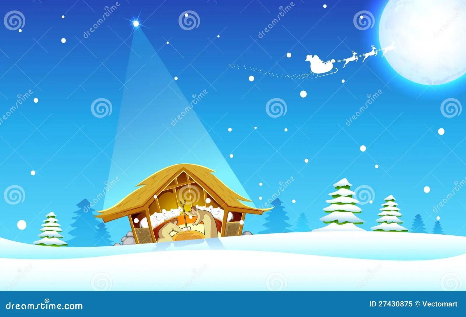Birth Of Jesus Stock Vector Image Of Happy Lamb Baby
