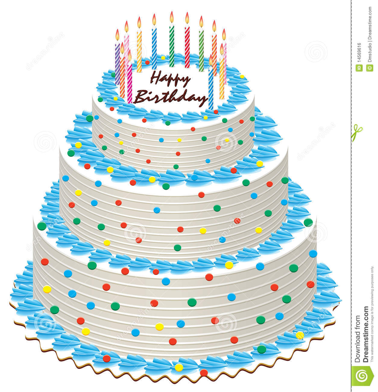 Birthday cake stock vector Illustration of color