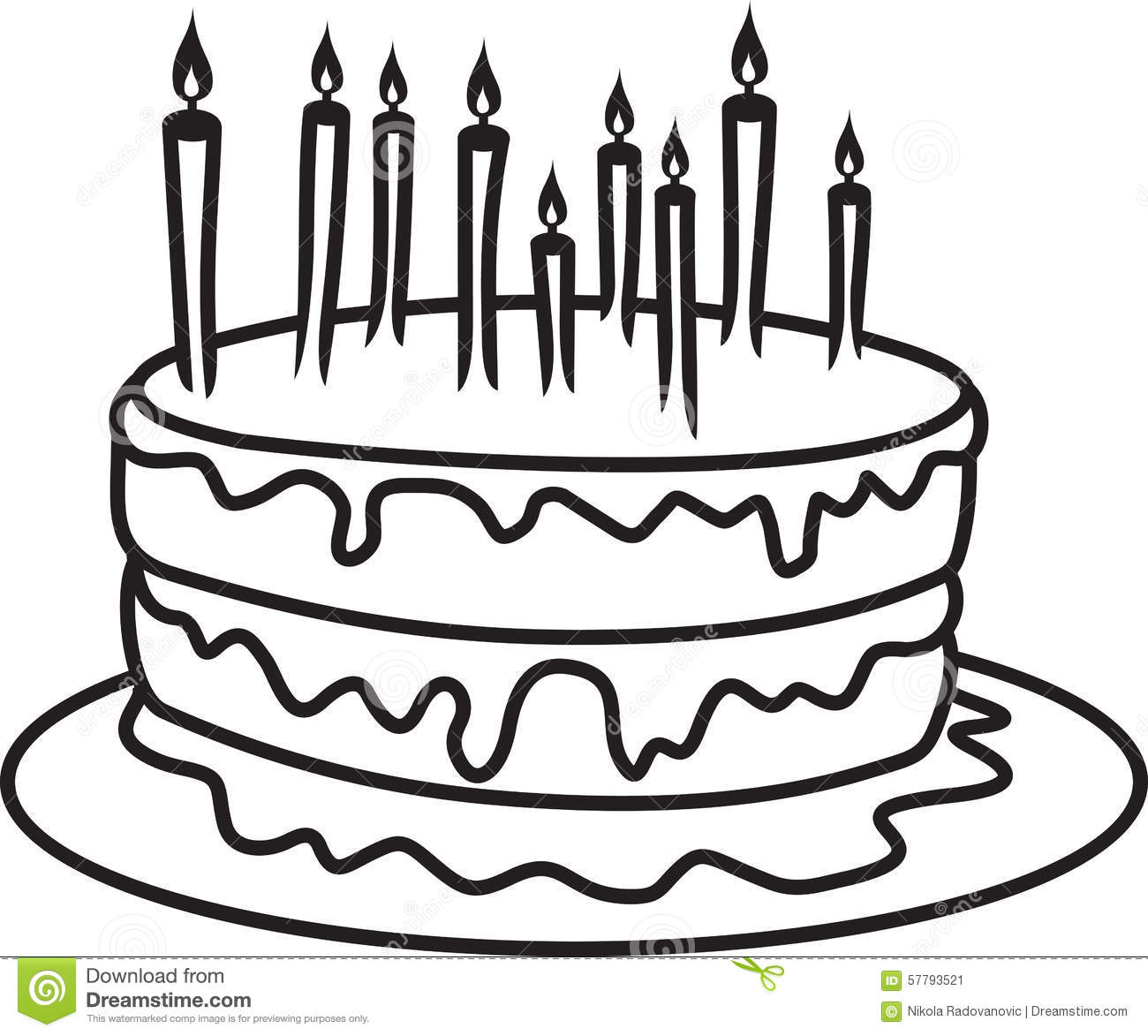 Birthday Cake Stock Illustration Illustration Of