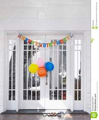 Birthday Decorations At House Stock Photography - Image ...