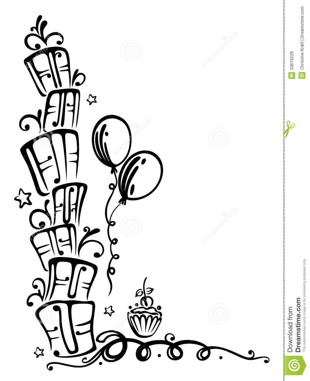 Birthday Ts Illustration Royalty Free Stock Photos