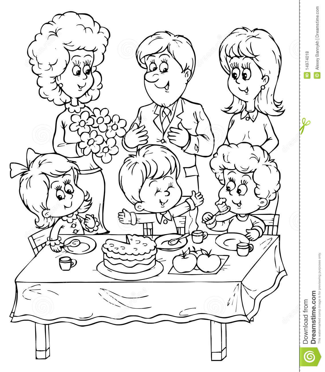 Birthday Party Stock Illustration Illustration Of Mood