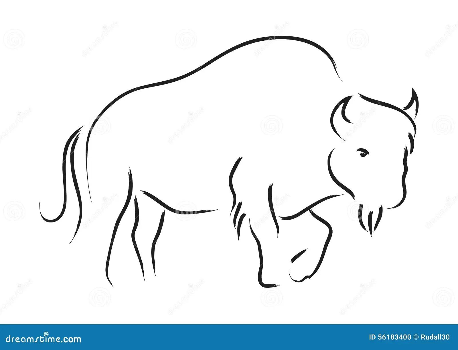 Bison Stock Vector Image Of Wildlife Graphic Symbol