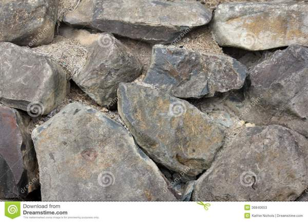 Basalt Rock Retaining Wall