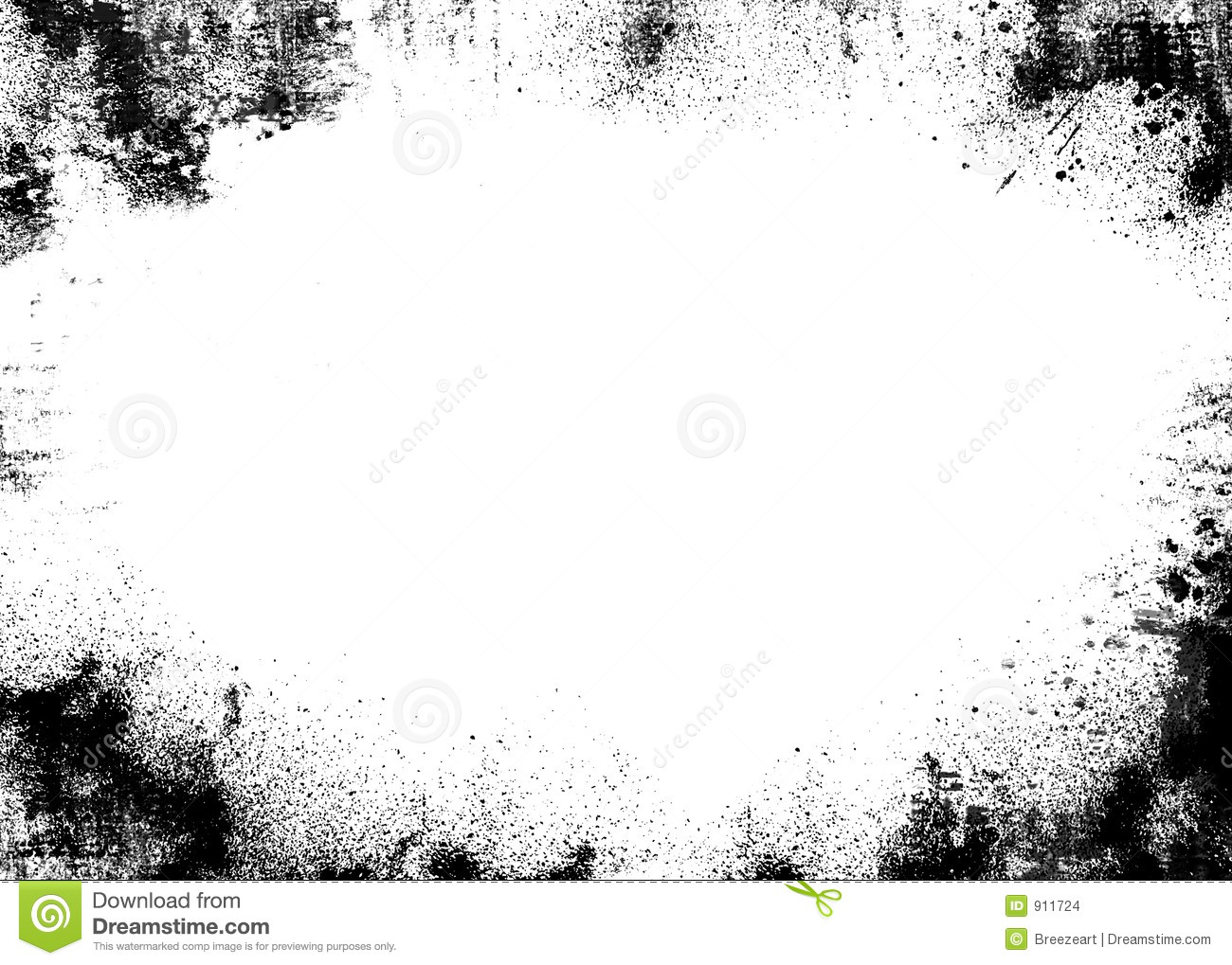 Black Border Grunge Stock Illustration Illustration Of