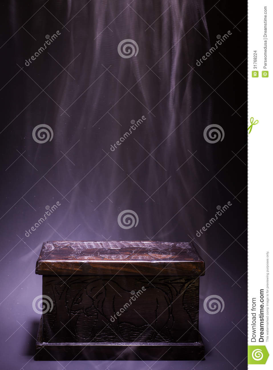 Black Box stock photo. Image of ancient. wooden. evil - 31768224