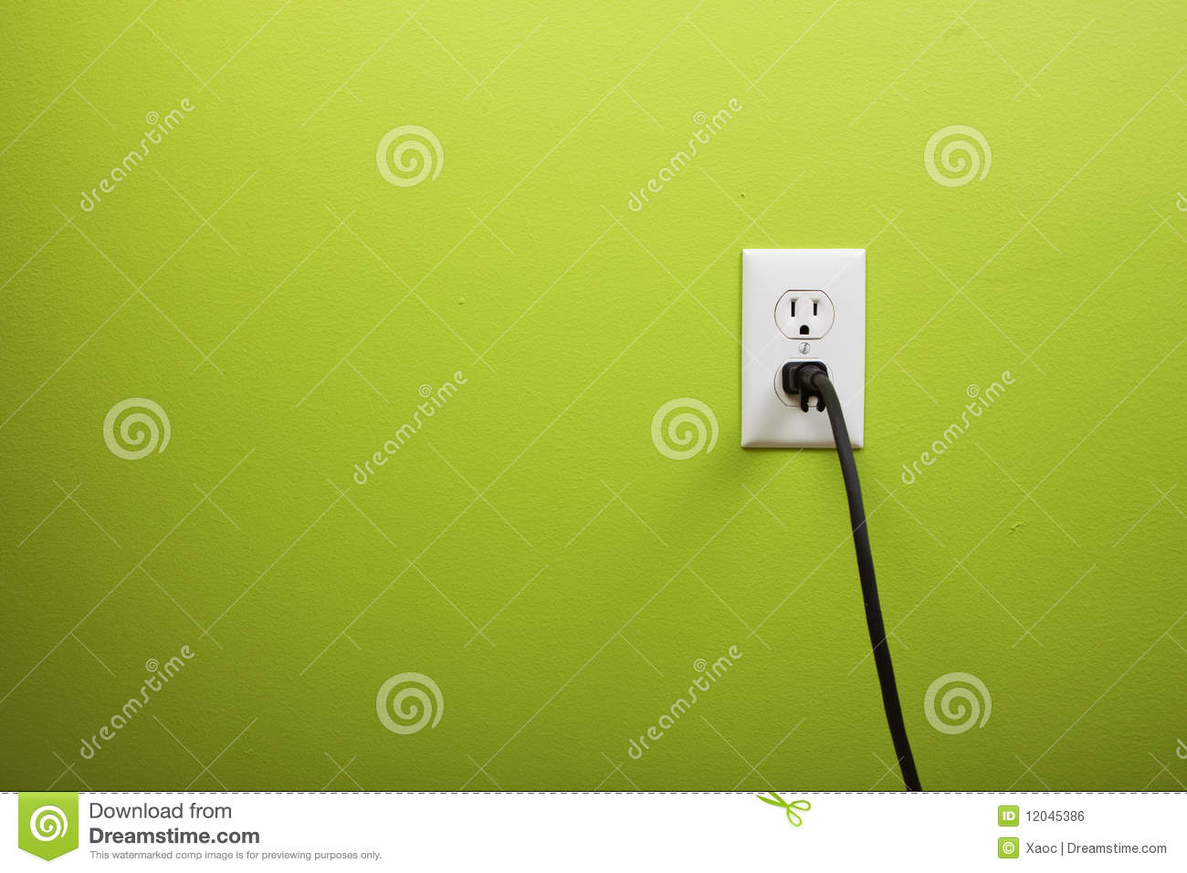 Electric Power Plug With Red Wire Royalty Free Stock Images Image