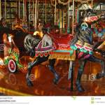 Black Carousel Horse With Rabbit Stock Image Image Of Realistic Beautiful 54673809