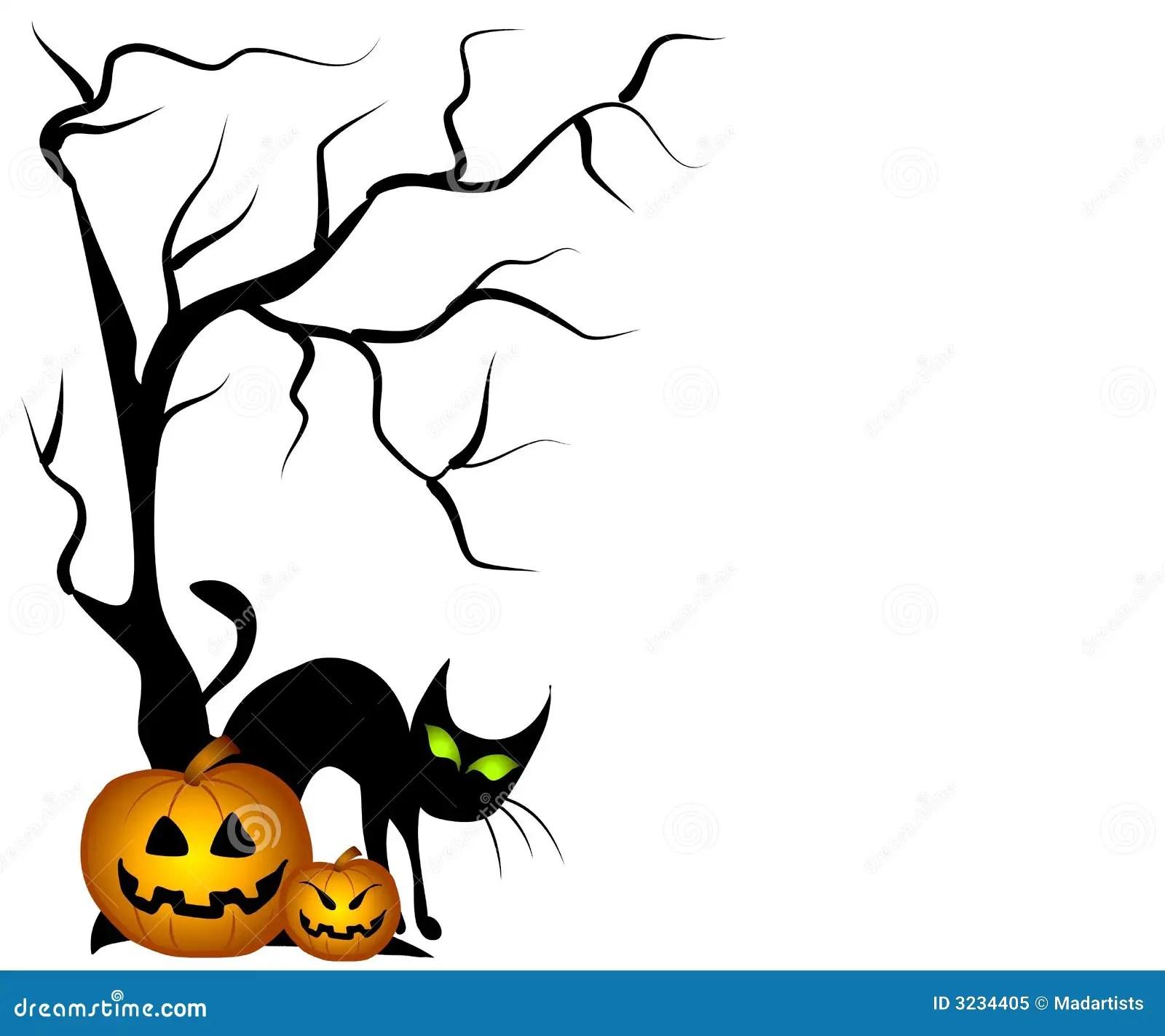 Find the perfect black cat halloween black & white image. Black Cat Halloween Pumpkins Stock Illustration Illustration Of Lanterns Jackolantern 3234405