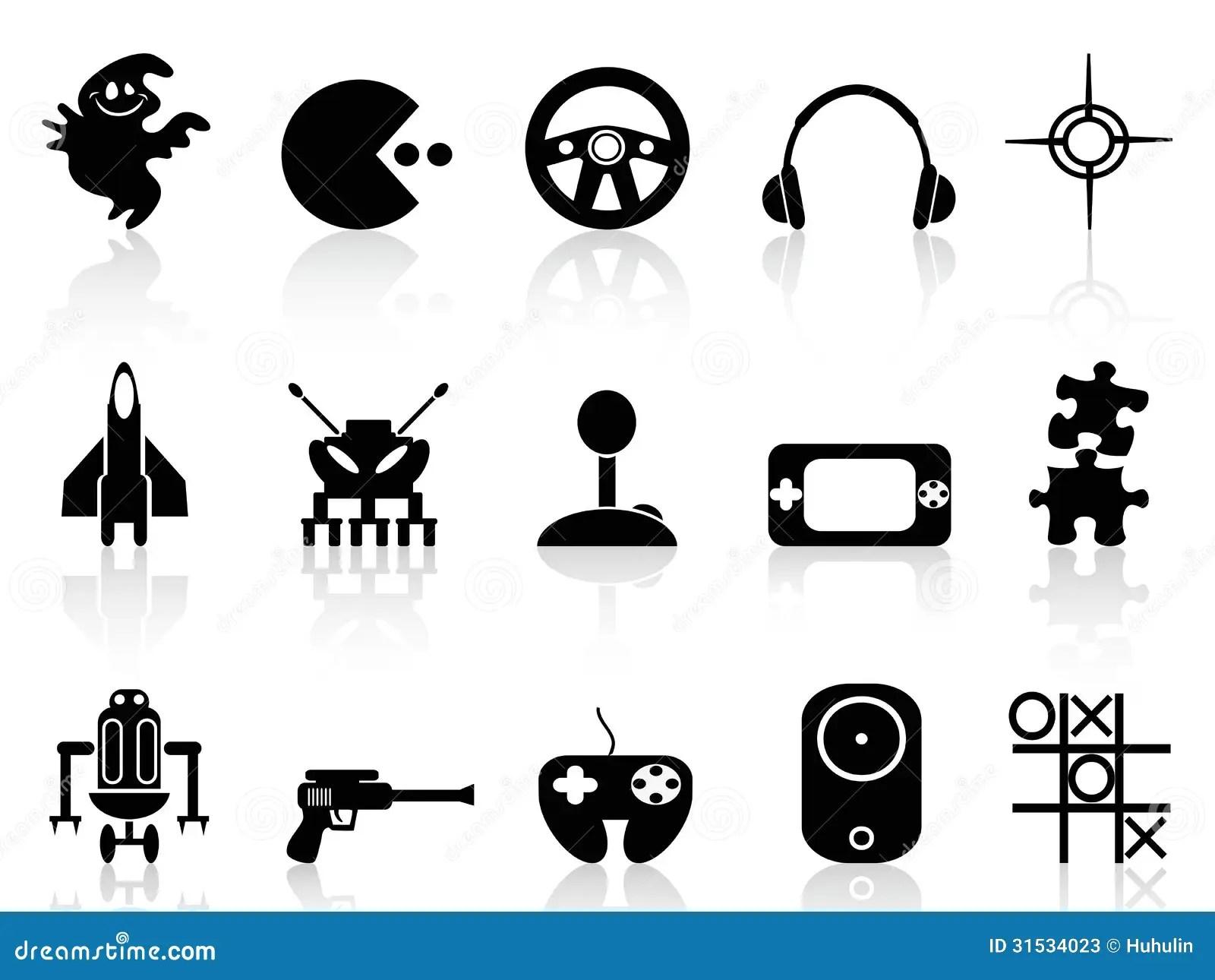 Black Computer Game Icon Editorial Stock Photo