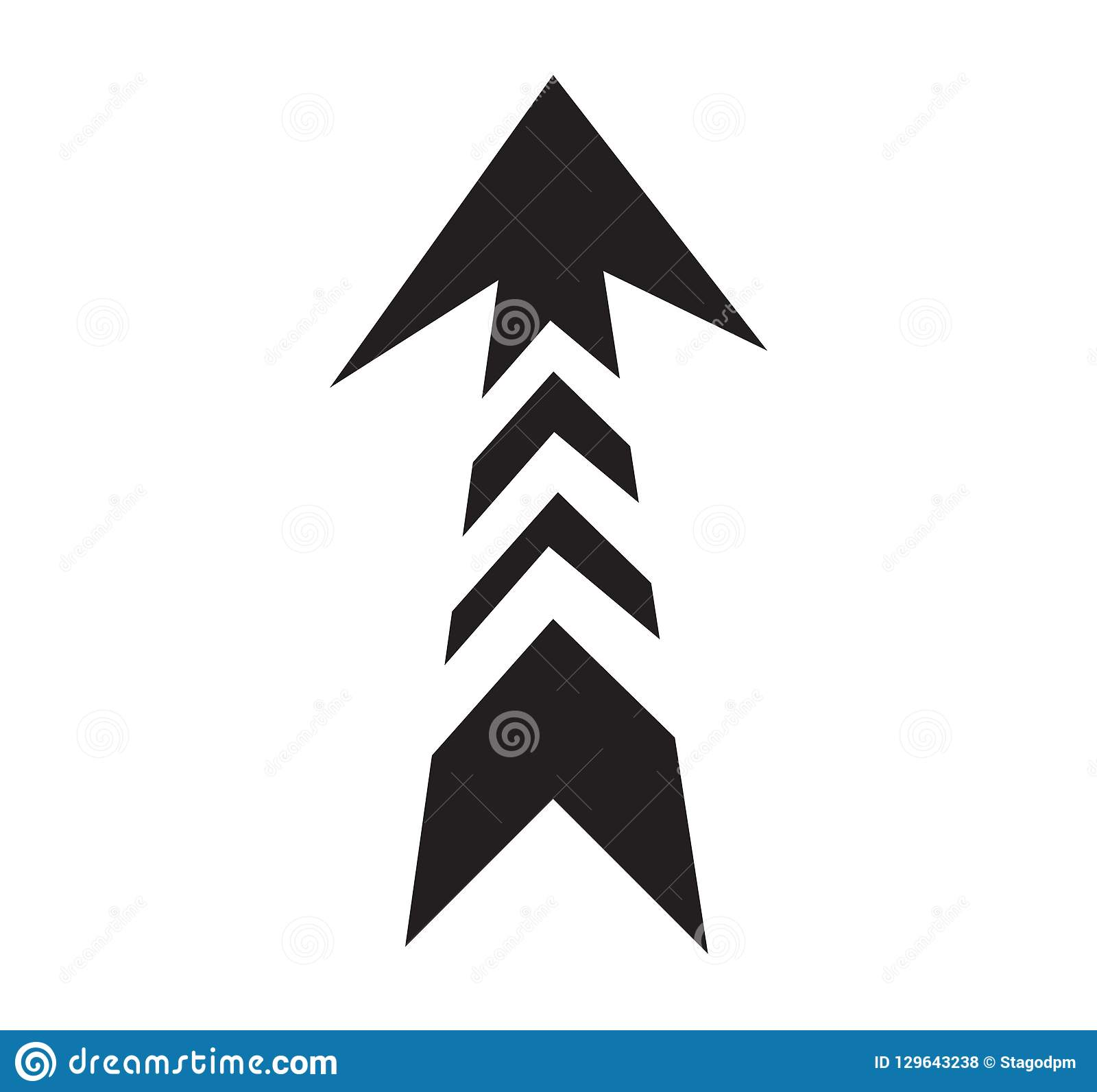 black creative arrow symbol
