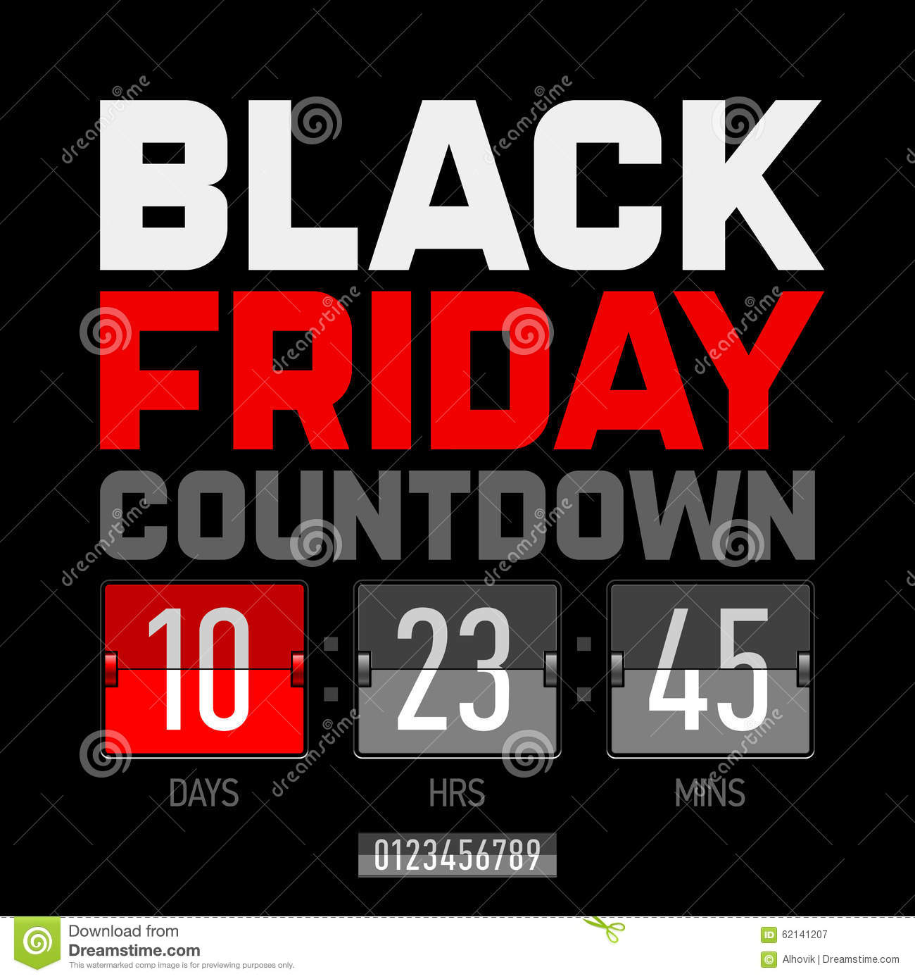 Black Friday Countdown Timer Stock Vector - Image: 62141207, Modern  Powerpoint