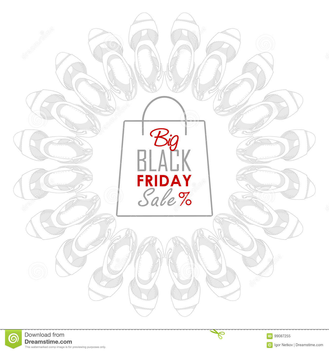 Black friday shoes sale stock vector. Illustration of flat