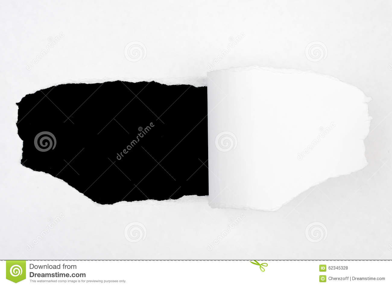 Black Hole In Blank Paper Stock Photo Image Of Hole