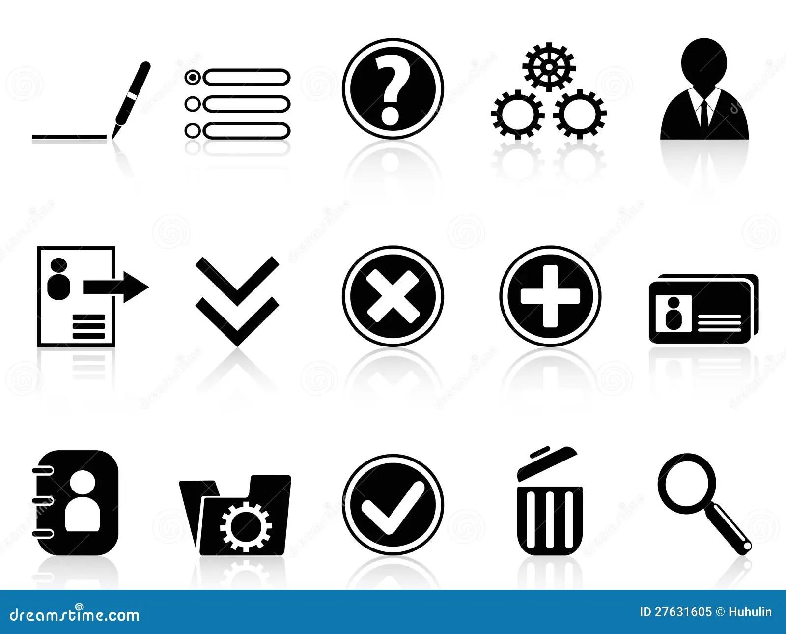 Black Internet Account Settings Icon Stock Vector