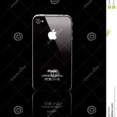 Back Of Iphone 4s Diagram Saltwater Ecosystem Black Side Isolated On Editorial Stock Photo View A Phone Smartphone Background Is Smart Cellular Produced By Apple Computer Inc