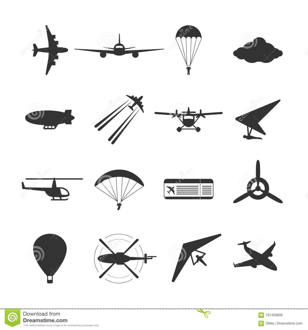 Hang Glider Flying In The Sky Royalty Free Illustration