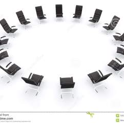 Office Chairs Unlimited Unusual Comfy Chair Black Leather In Circle Stock Illustration - Image: 7253907