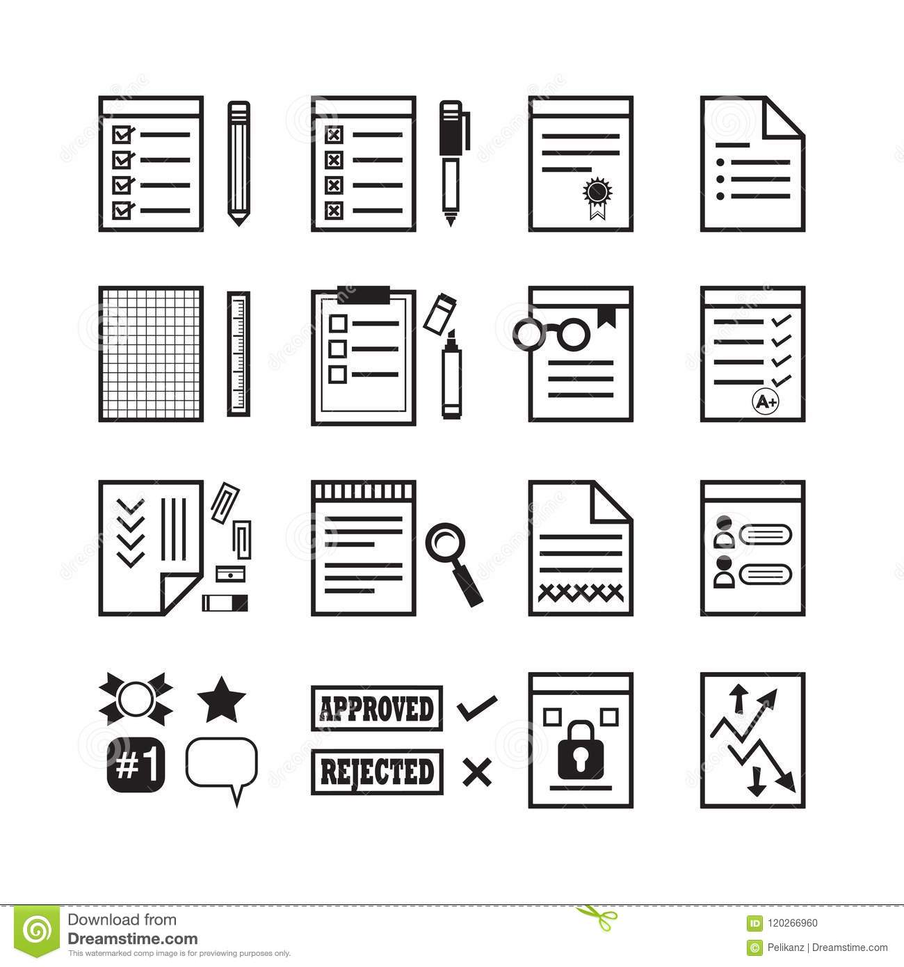 Security Office Documents Royalty-Free Stock Photo