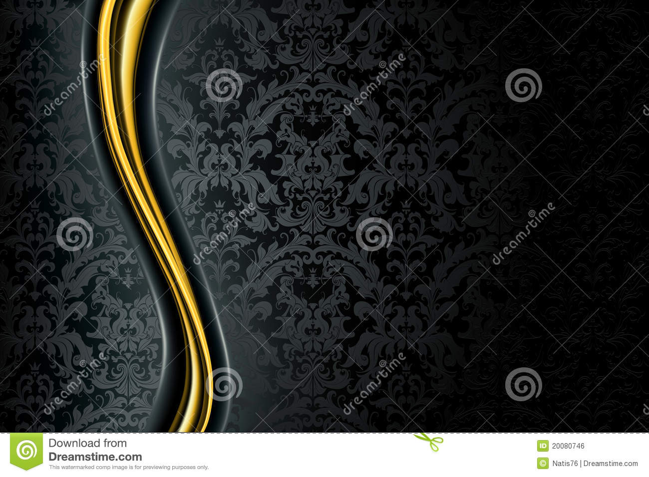 Victorian Wallpaper Black Black Luxury Background Royalty Free Stock Image Image