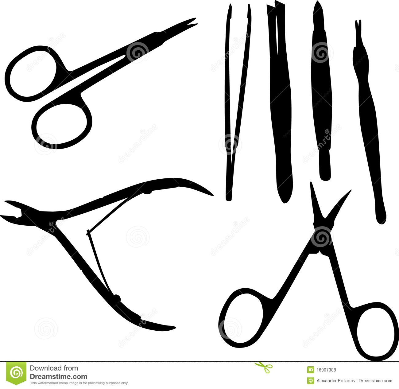 Black Manicure Set Royalty Free Stock Photos