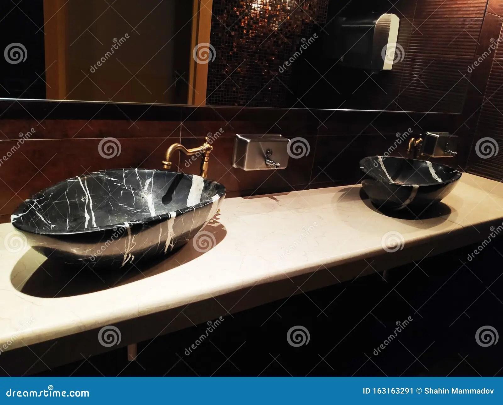 https www dreamstime com black marble sink faucet bathroom washroom toilet image163163291