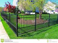 Black Metal Fence stock photo. Image of strong, home ...
