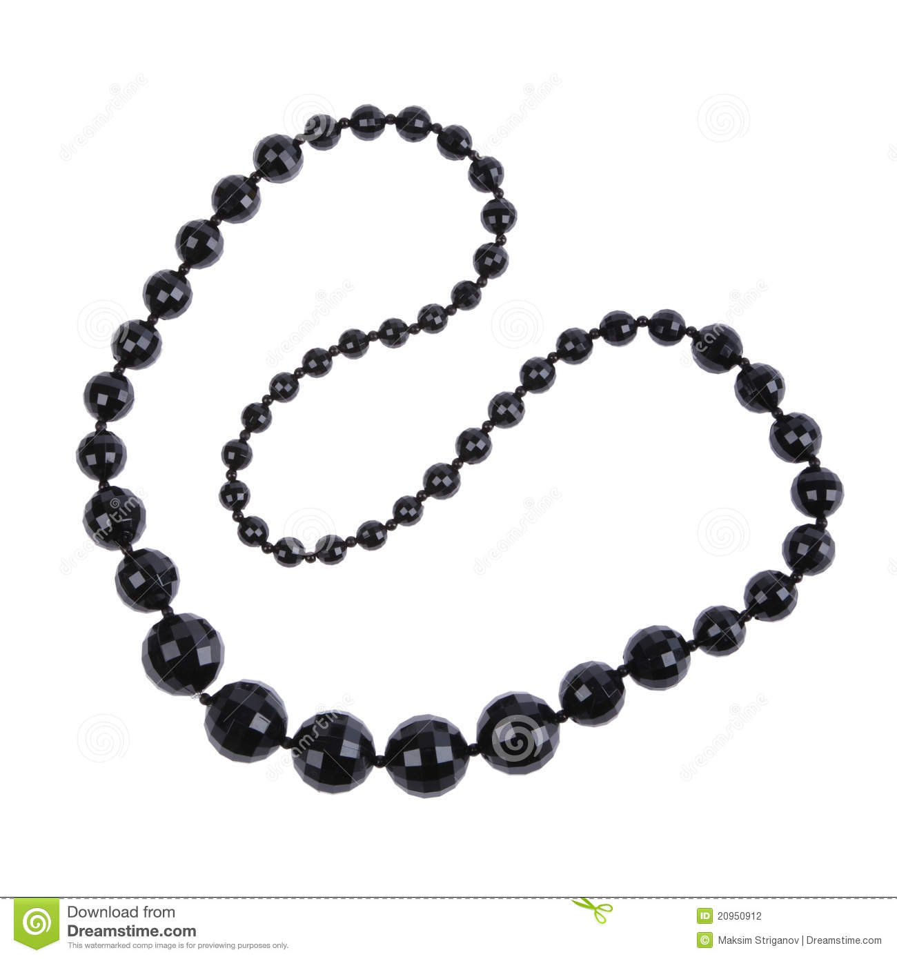 Black Necklace Stock Photo Image Of Background Adornment