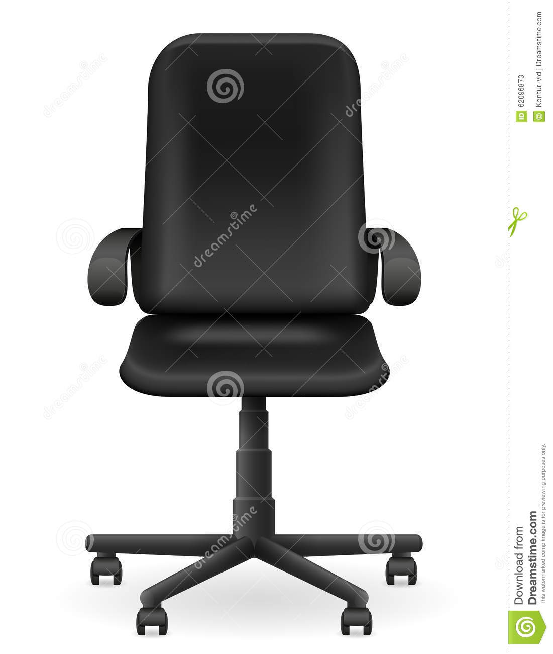 office chair illustration navy blue metal dining chairs black armchair furniture vector stock