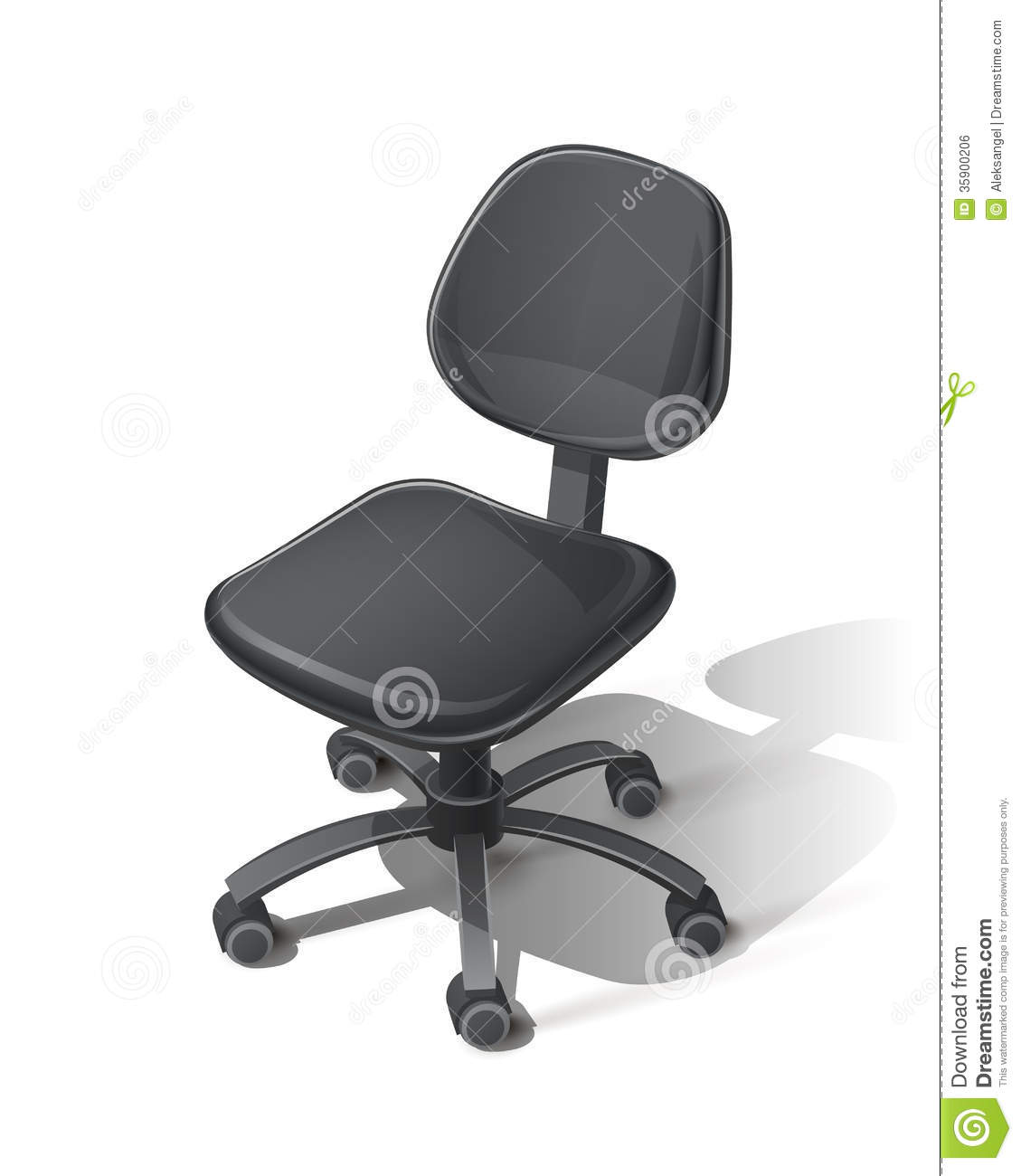 office chair illustration hanging outdoor chairs black royalty free stock image 35900206