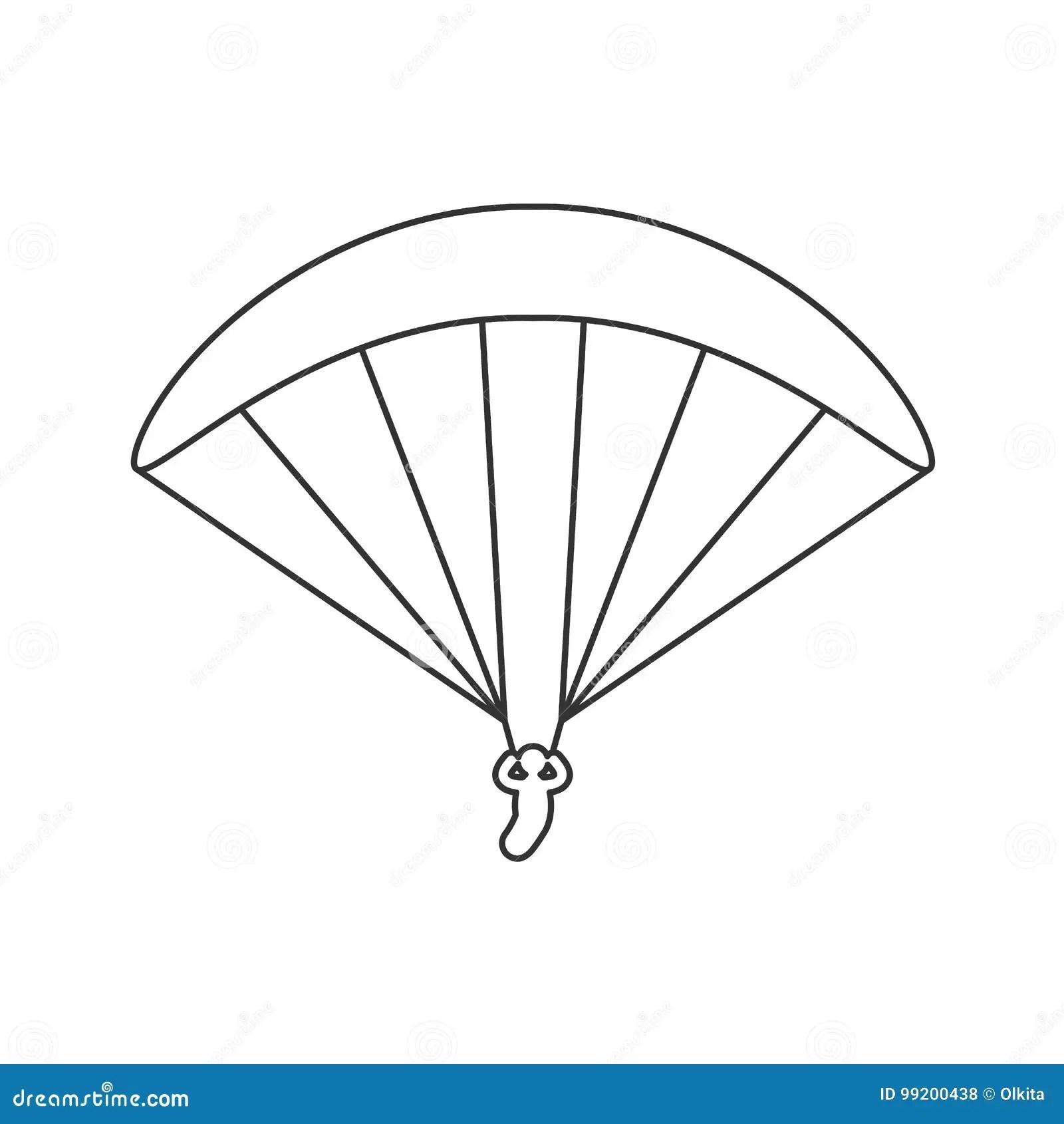 Paraglider Flight Cartoon Vector