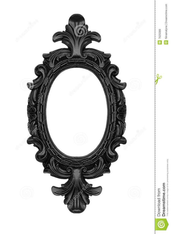 Black Oval Frame Royalty Free Stock - 7625089