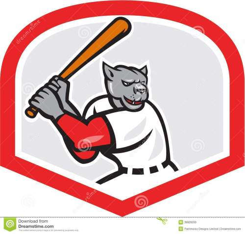 small resolution of black panther baseball player batting cartoon