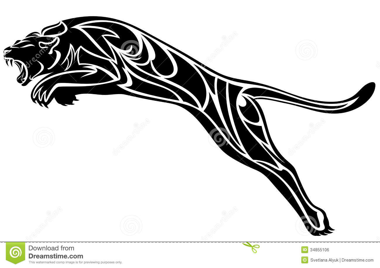 Black Panther Vector Stock Vector Illustration Of