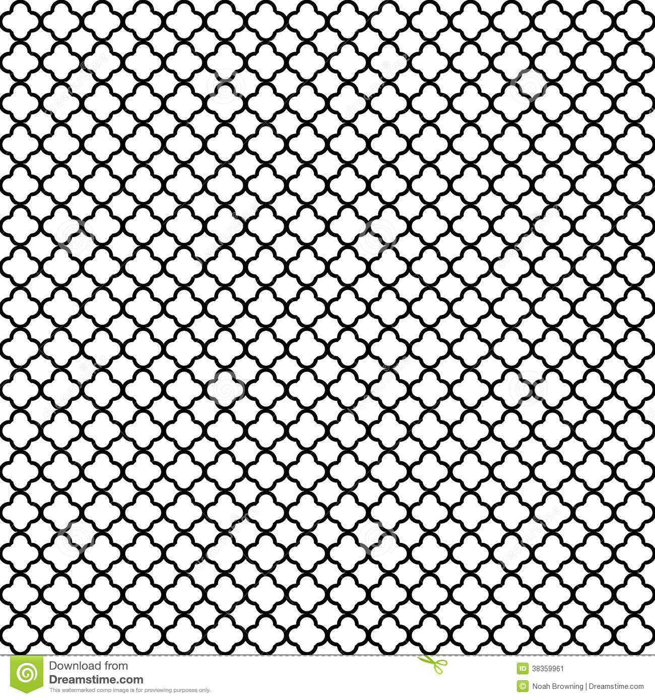 Black quatrefoil pattern stock illustration Image of