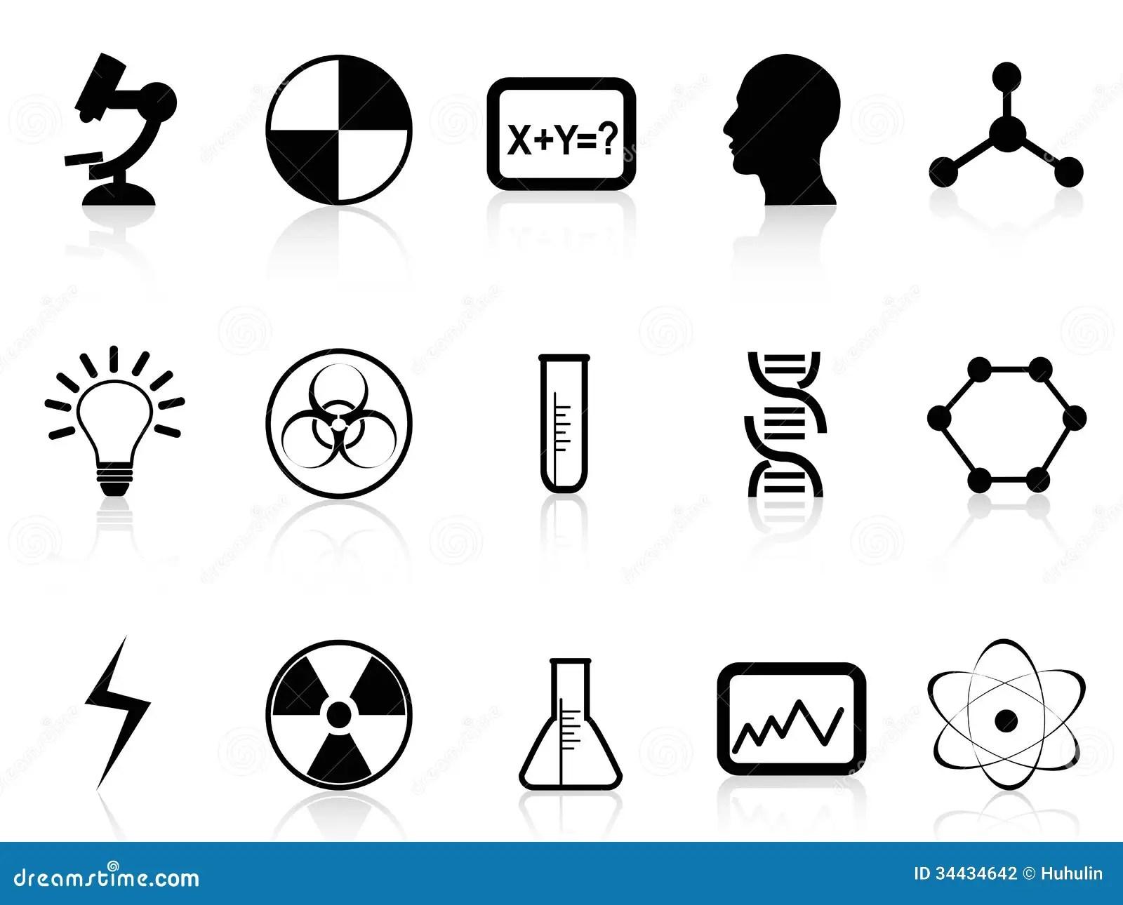 Black Science Symbols Stock Vector Illustration Of