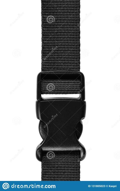 small resolution of black side release acculoc buckle plastic clasp quick nylon belt rope lock strap isolated