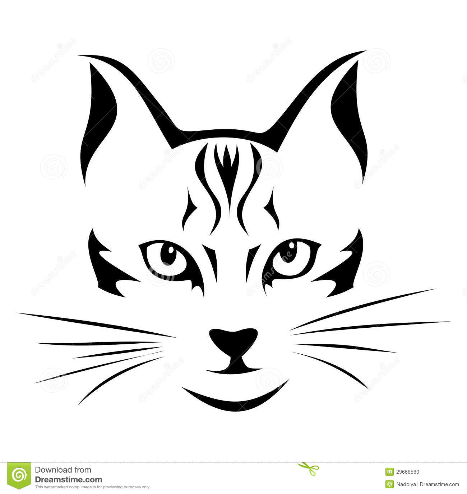 Black Silhouette Of Cat Vector Stock Vector