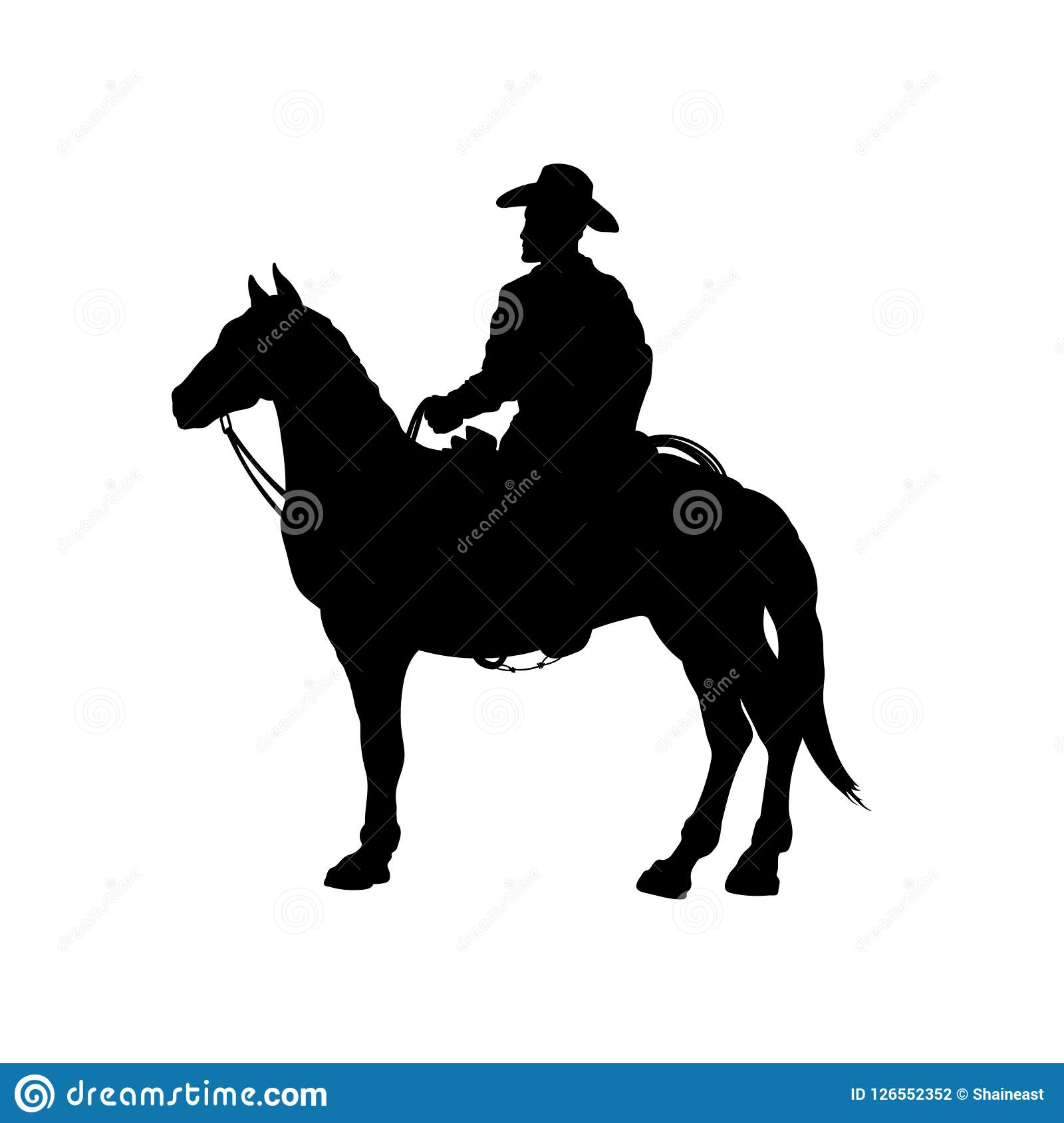 black silhouette of cowboy