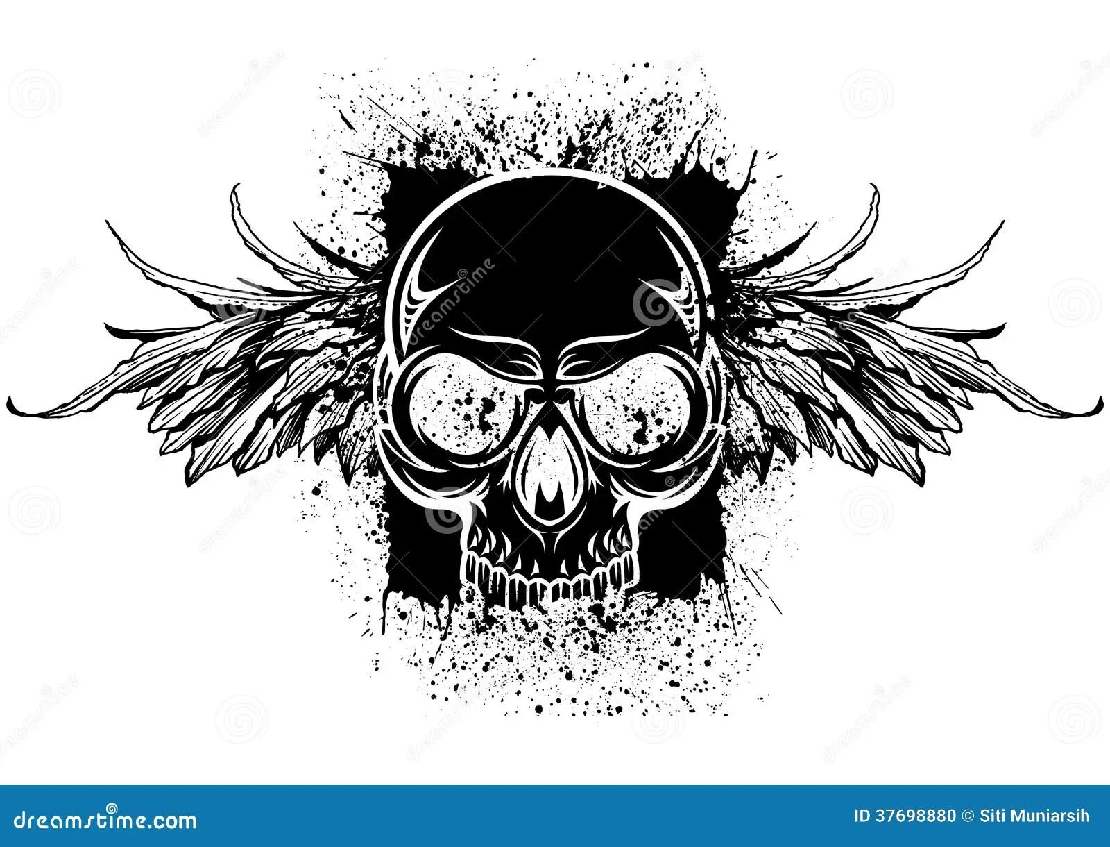 Black Splatter Skull Stock Vector Illustration Of Artwork