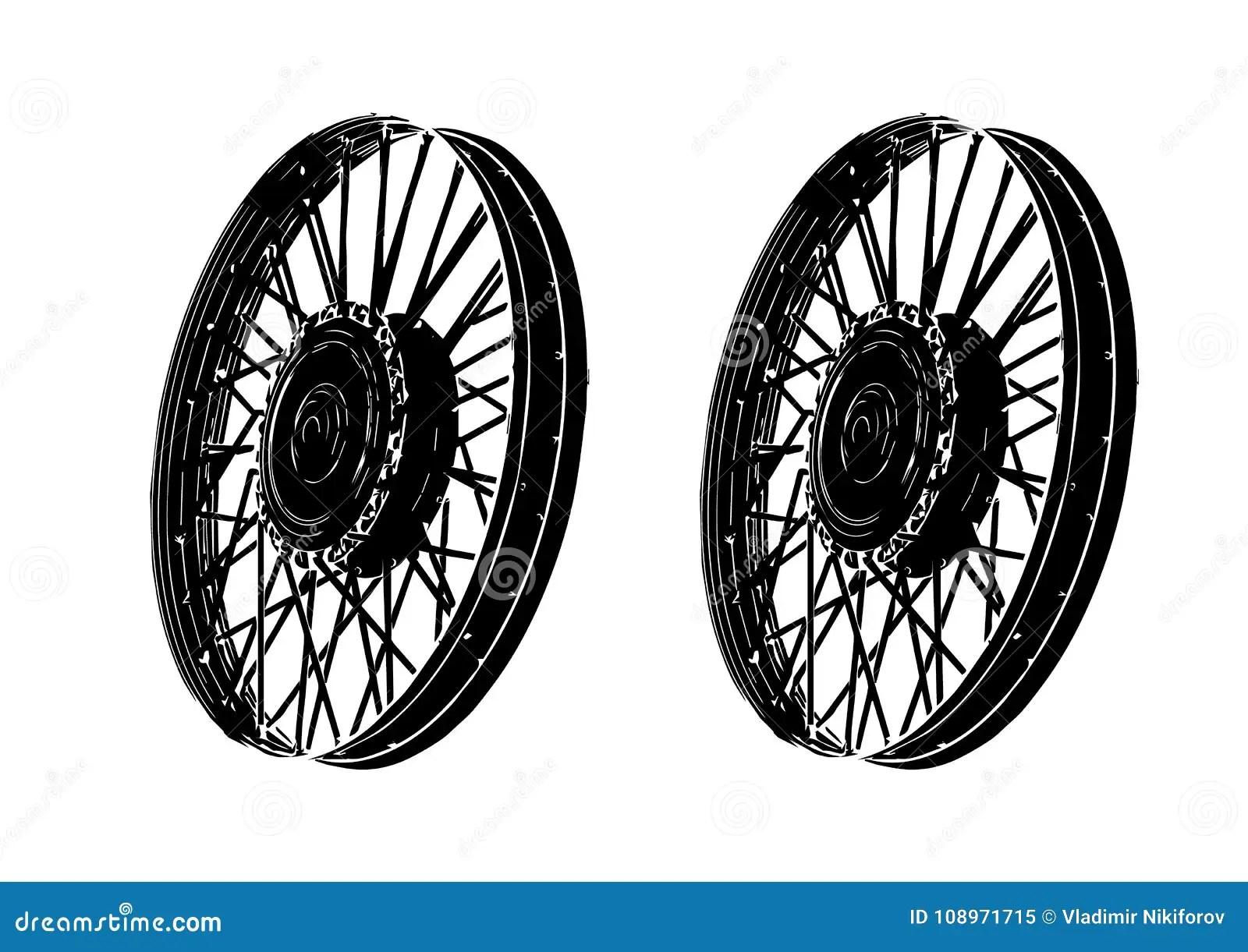 Black spoke wheel stock vector. Illustration of race