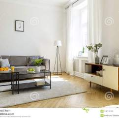 Grey Sofa Living Room Carpet Simple Ideas India Black Table On In Front Of Inter